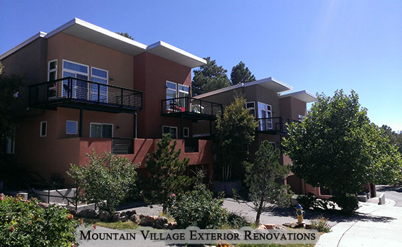 Mountain Village Exterior Commercial Remodel and Renovation